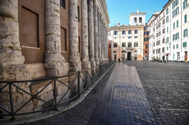 Leere Gassen in Italiens Hauptstadt.