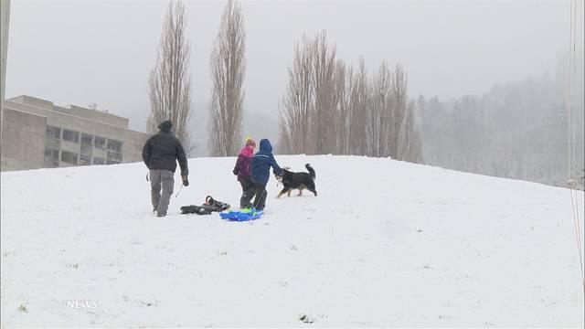 Stadt freut sich über Schnee