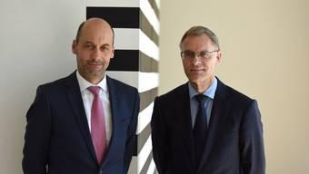 Gerhard Lips (r.) verlässt die Polizei, Martin Roth (l.) ist nun Polizeikommandant ad interim.