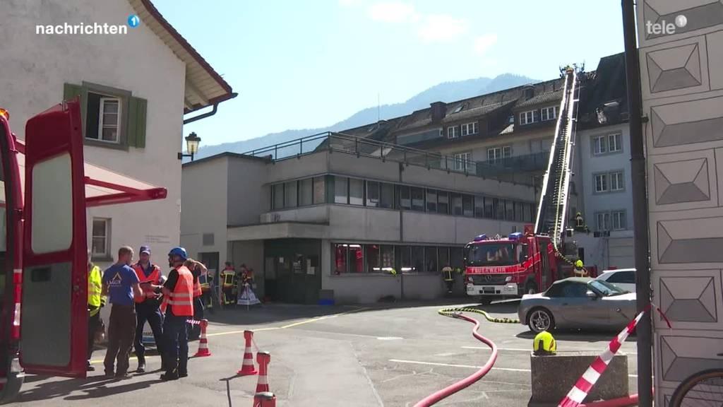 Feuerwehreinsatz in Arth