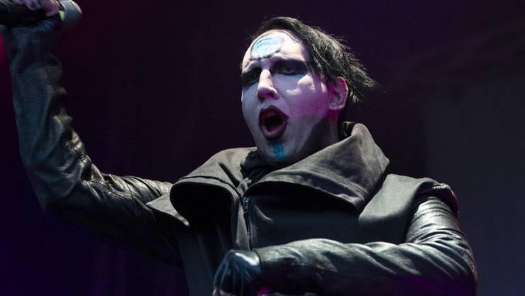 Da wird wohl alles Beten nichts nützen: Schockrocker Marilyn Manson tritt am 26. Juli in der Nähe von Verona auf. (Archivbild)
