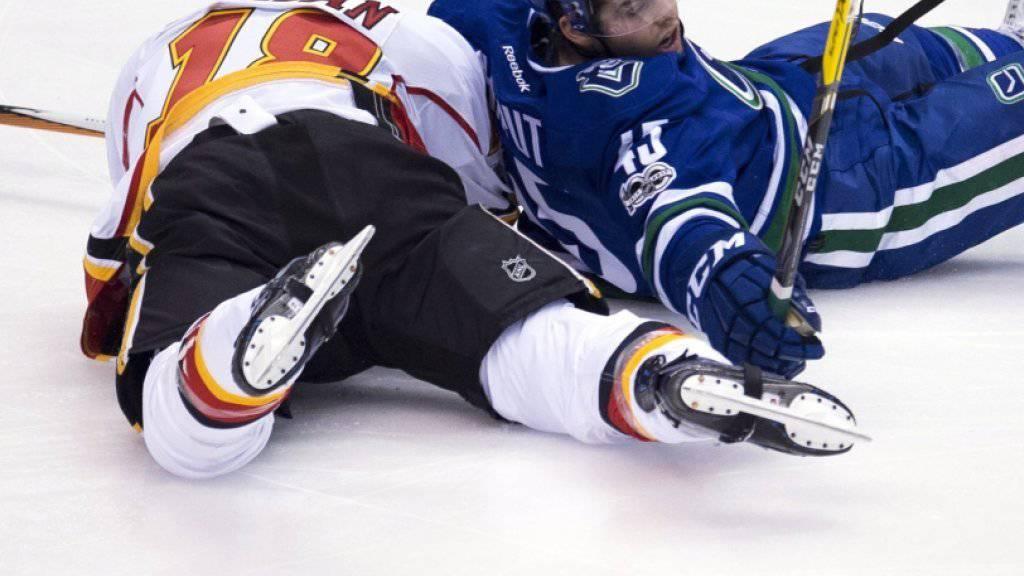 Vancouver Canucks setzten sich auch gegen die Calgary Flames durch und kamen zum 6. Sieg in Folge