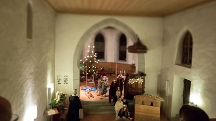 Die Kirche Leuzigen war Schauplatz für das Krippenspiel der Kinder