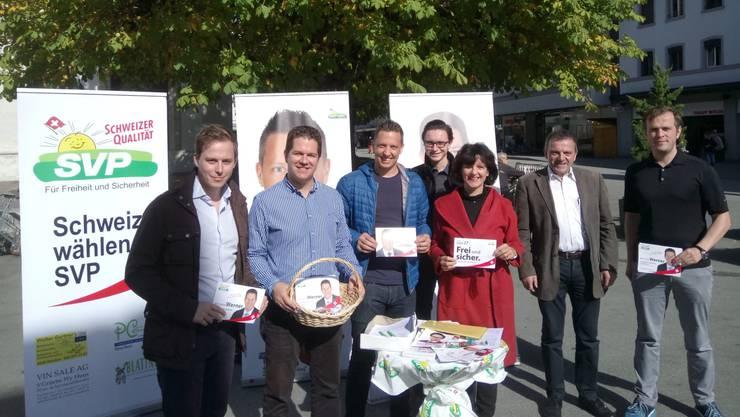 Fotolegende (von links): Philippe Ruf, Christian Werner, Christian Imark, Robin Kiefer, Diana Stärkle, Walter Wobmann, Matthias Borner