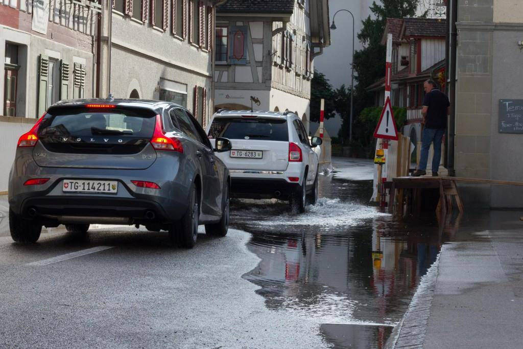 Berlingen unter Wasser (© FM1Today)