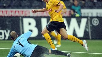 YB-Matchwinner David Degen trifft zum zwischenzeitlichen 2:0