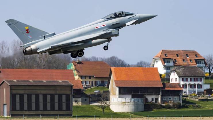 Der Eurofighter des europäischen Herstellers Airbus.