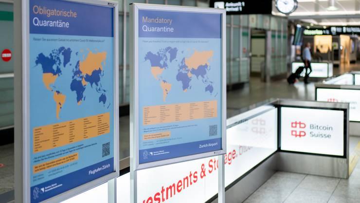 21'546 Reiserückkehrer befinden sich zurzeit in Quarantäne.