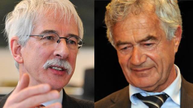 Treten 2013 nicht mehr zur Wahl an: CVP-Regierungsräte Klaus Fischer (l.) und Walter Straumann.
