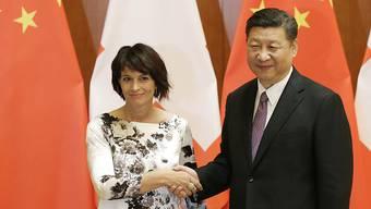 Leuthard besucht China