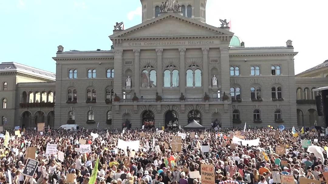 100'000 Klimademonstranten in Bern