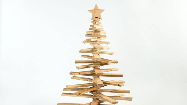 Bäumig einmal anders: Christbaum von In Lain Cadonau, bei www.inlain.swiss , 770 Franken.