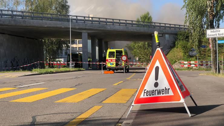 Die Feuerwehr musste an die Gaswerkstrasse in Schlieren ausrücken.