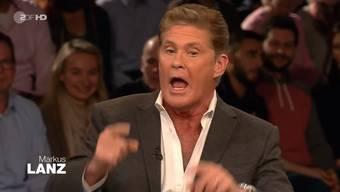 David Hasselhoff redet sich bei Lanz in Rage. (Und der Kragen scheint wirklich geplatzt.)