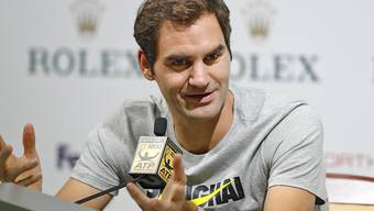 In Schanghai bereits vor seinem ersten Einsatz ein gefragter Mann: Roger Federer