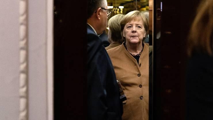 Die deutsche Bundeskanzlerin Angela Merkel bei ihrer Ankunft zum CDU-Parteitag.