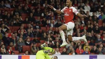 Pierre-Emerick Aubameyang erzielte als Joker zwei Tore für Arsenal