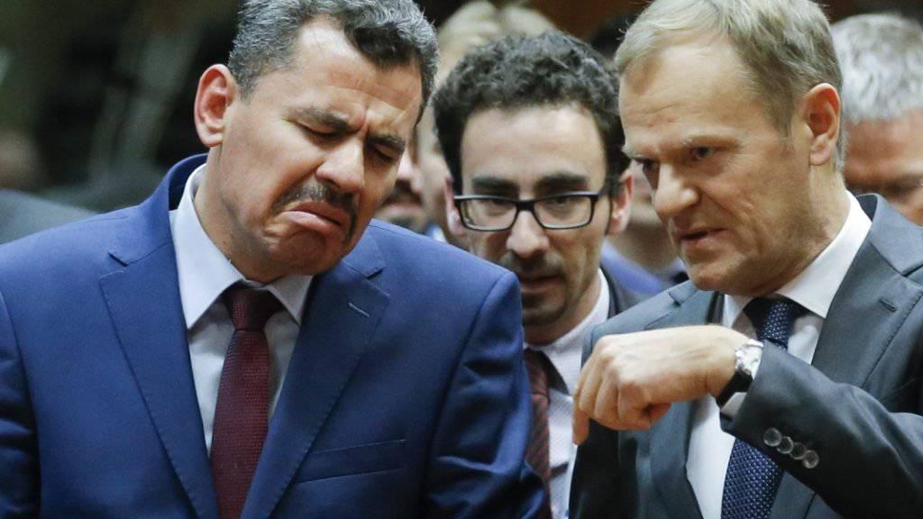 EU-Ratspräsident Donald Tusk (rechts) hat den Bürgermeister von Ost-Aleppo zum Gipfel geladen.