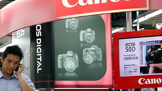 Die japanische Firma Canon präsentiert gute Zahlen (Archiv)