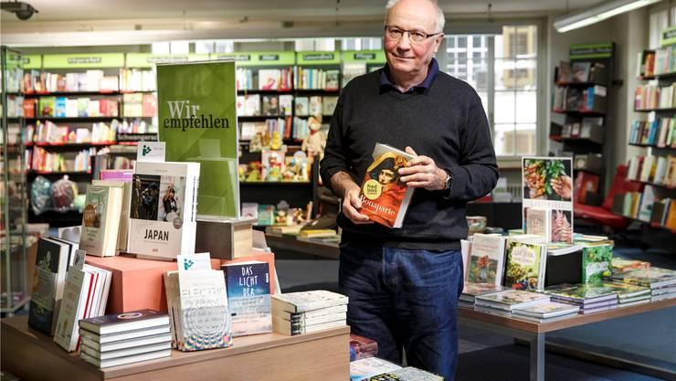 Fred Stähli von der Buchhandlung Lüthy und Stocker in Solothurn bleibt zuversichtlich.