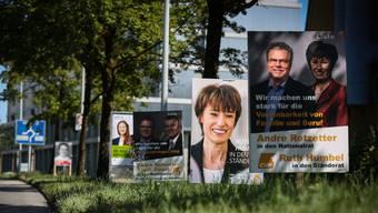 Wer vor den Nationalrats- und Ständeratswahlen durch den Aargau fuhr, kam nicht an den unzähligen Wahlplakaten vorbei.