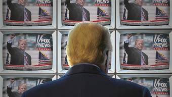 So sieht der Präsident der USA sich selbst am liebsten: Auf seinem favorisierten Sender «Fox News».