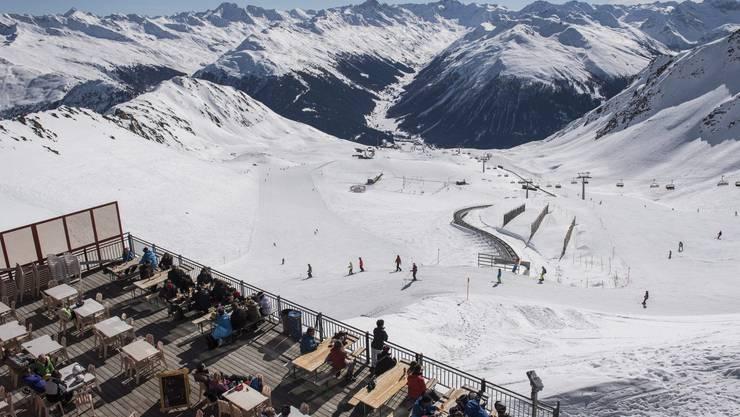 Wie viel Schnee wird auf dem Weissfluhjoch in Davos 2100 noch liegen?
