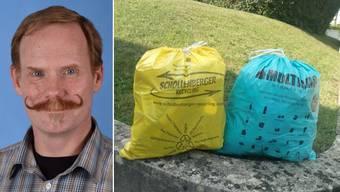 Andreas Schollenberger führt das Angebot des Multibag-Recyclingsacks mit einem eigenen gelben Sack weiter.