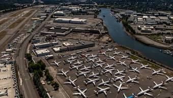 Gegroundete Boeing 737 MAX in Seattle (Archivbild)