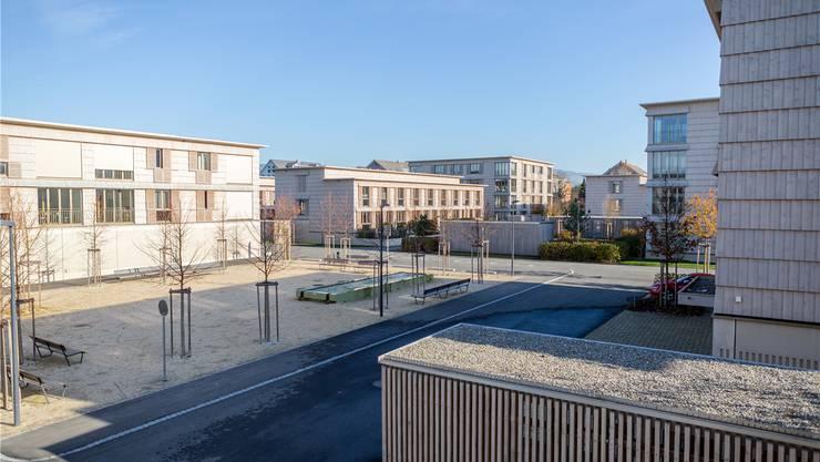 Auch nach drei Jahren steht ein Drittel der Wohneinheiten in der schweizweit bekannten Wohnsiedlung Neugrüen leer. Archiv/sanard