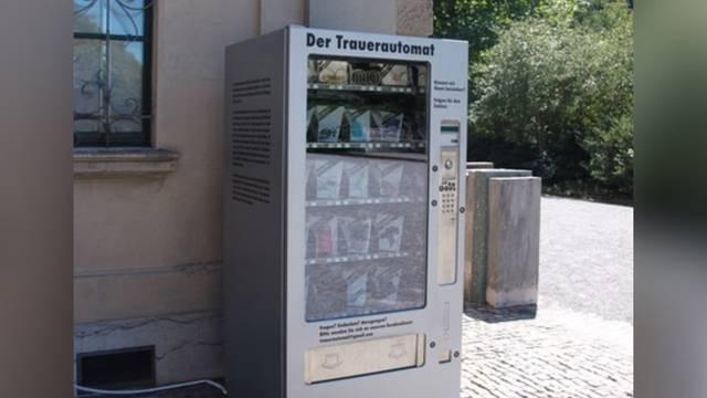 Trauerautomat auf dem Friedhof Sihlfeld