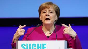 Bundeskanzlerin Angela Merkel sieht das Atomabkommen mit dem Iran vor einer unsicheren Zukunft