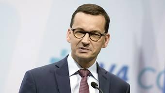 Der polnische Ministerpräsident Mateusz Morawiecki sprach bei der Anhörung von Missverständnissen. (Archivbild)