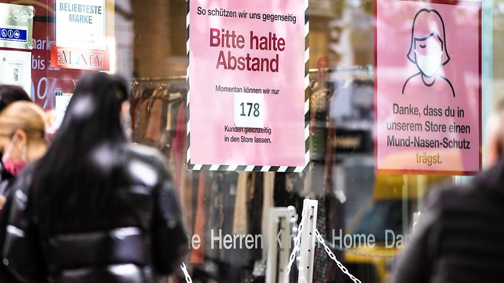 Detailhandel in Euro-Zone profitiert von Corona-Lockerungen