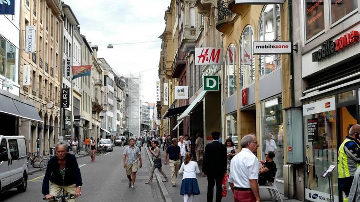 Am Donnerstagmorgen wurde ein Uhren- und Schmuckgeschäft in der Freien Strasse überfallen. (Symbolbild)