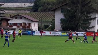 Der SC Derendingen war klar überlegen in der Partie gegen den FC Salgesch – das Spiel endete mit einem Spielstand von 13:0.