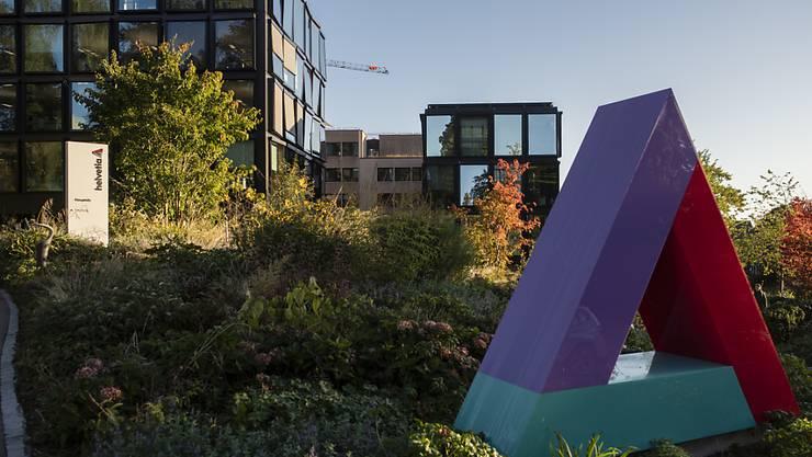 Blick auf den Hauptsitz der Versicherungsgruppe Helvetia in St. Gallen
