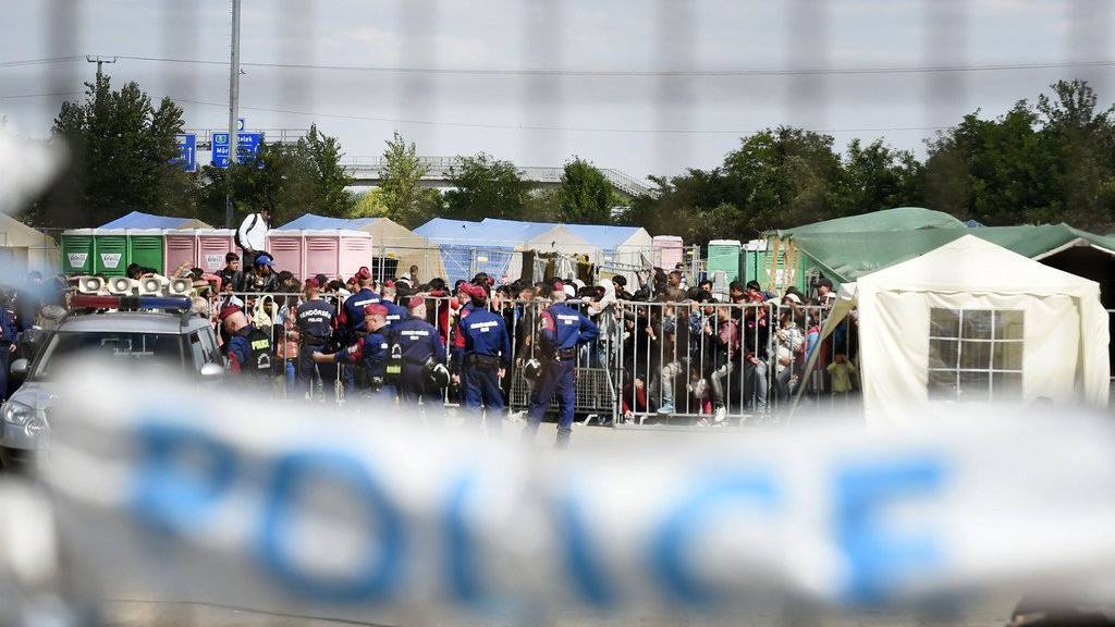 Ungarische Grenze zu Serbien in Röszke