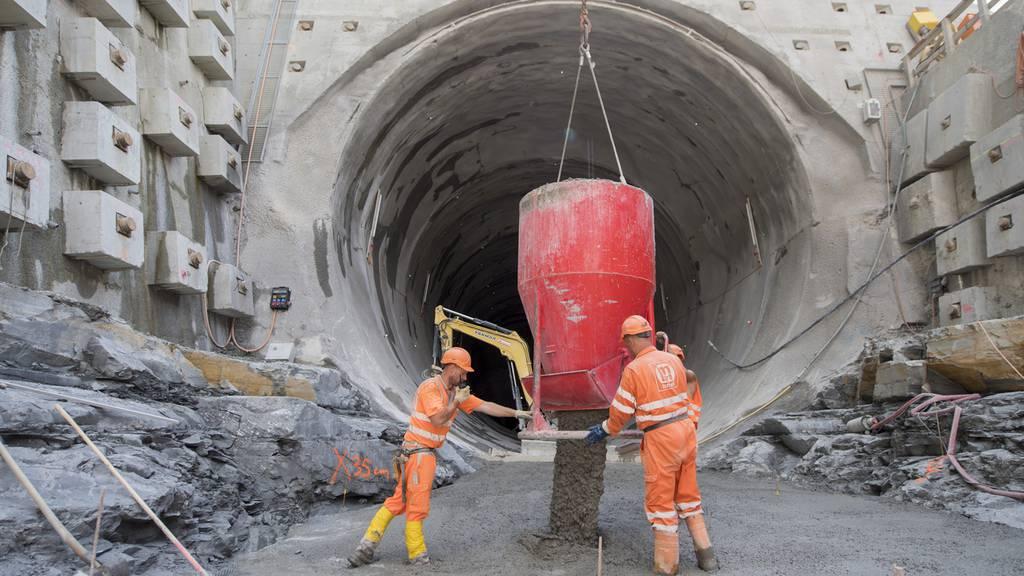 Blick in einen der wichtigsten SBB-Tunnel
