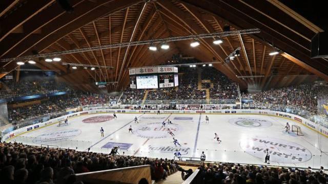 Schöne Holzkonstruktion: Vaillant-Arena in Davos (Archiv)