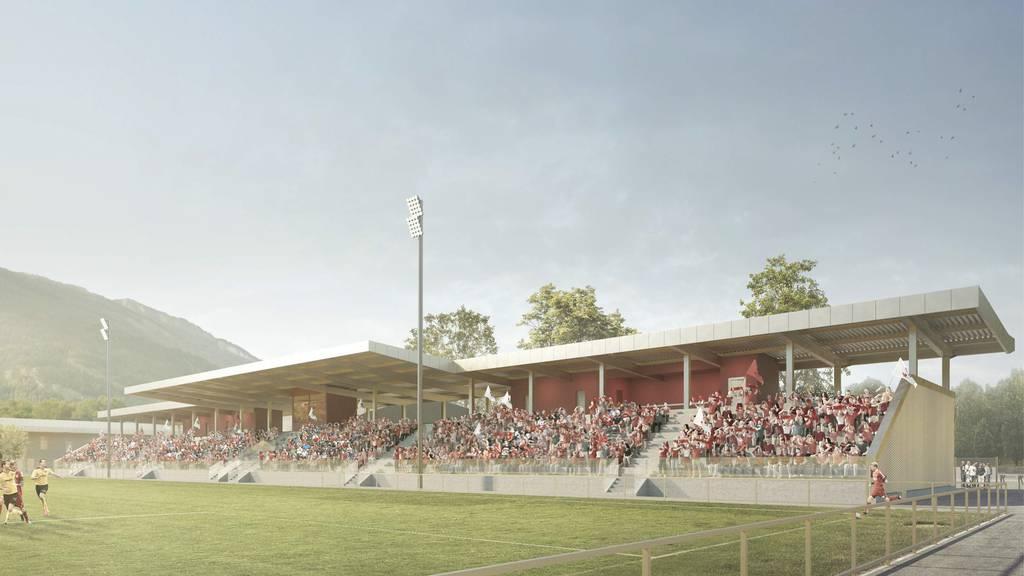 Das Fussballstadion des Gewinnerprojekts «Eisball».