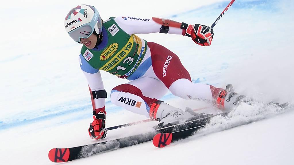 Michelle Gisin war beim Riesenslalom in Sölden die beste Schweizerin im 1. Lauf mit guten Chancen auf einen Podestplatz