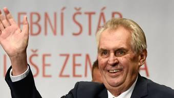 Feiert seinen Wahlsieg: Milos Zeman.