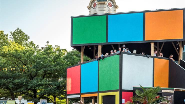 «Rubik's Cube» ist laut dem Stadtfest-OK die schönste Beiz. Bild: Luis Hartl
