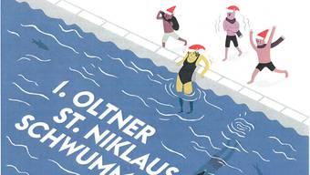Rund 50 Personen hofft der Yachtclub zum Schwimmen in der rund 10 Grad kühlen Aare am 10. Dezember überzeugen zu können. Werbung wird mit dieser Illustration gemacht.