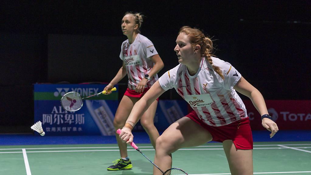 Das dänische Duo Maiken Fruergaard und Sara Thygesen beenden an der EM in Kiew die tollte Kampagne des Schweizer Duos Aline Müller/Jenjira Stadelmann.