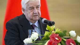 ARCHIV - Syriens langjähriger Außenminister Walid al-Muallim ist gestorben. Foto: Mark Schiefelbein/AP/dpa