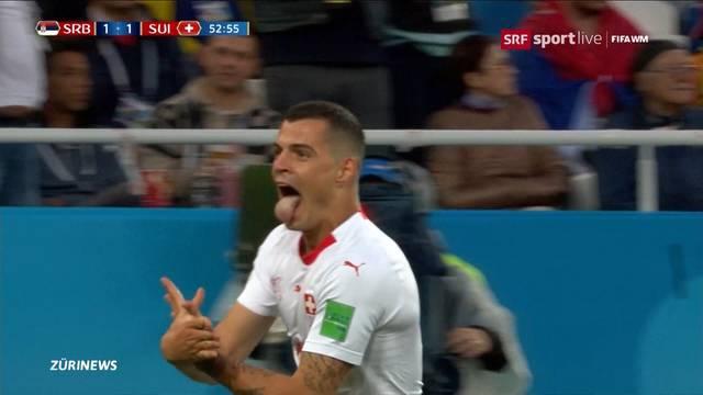 Die Schweiz holt sich den Sieg gegen Serbien