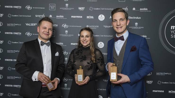 André Kneubühler vom Restaurant Stucki in Basel überzeugte mit seiner Vorspeise «Wasserkreislauf». Der 25-jährige Chef Tournant wurde Anfang Dezember 2018 in zum besten Jungkoch «Marmite Youngsters 2019» gekürt.