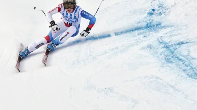 Lara Gut in St. Moritz gut in Fahrt
